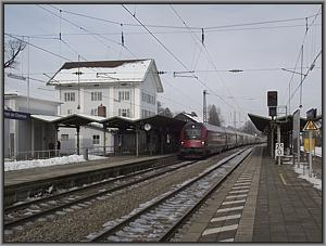 ÖBB-1116 201 mit RJ 161 in Prien am Chiemsee