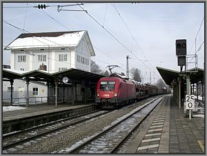 ÖBB-1116 262 mit EZ 44813 in Prien am Chiemsee