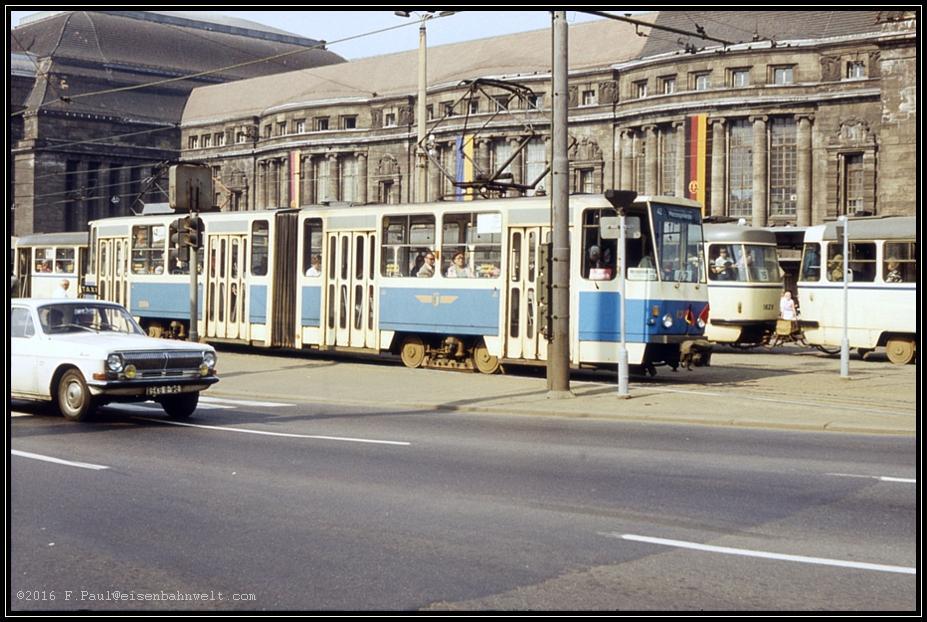 Leipzig Zur Messe Teil Straßenbahn
