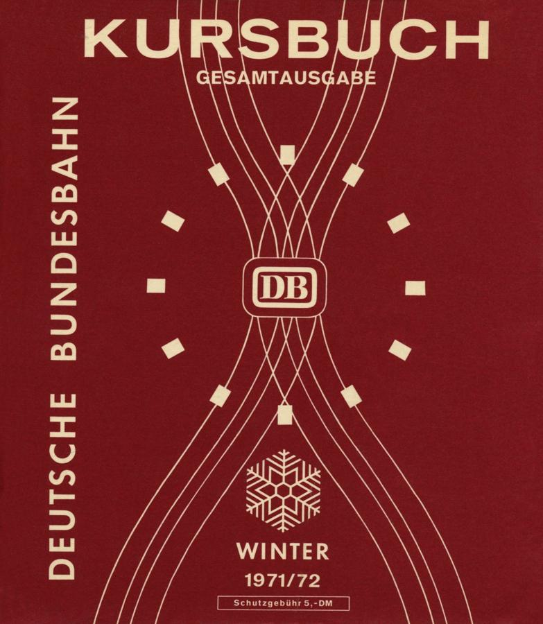 Kursbuch der DB Winter 1971/72